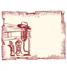 cowboy clothes vector image vector image