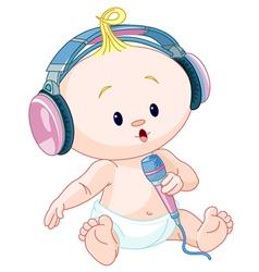 DJ baby vector image