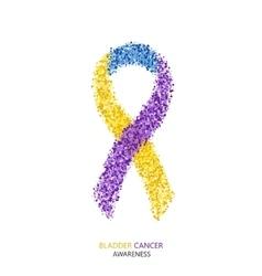 modern BLADDER CANCER awareness circles vector image