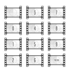 movie countdown numbers vector image