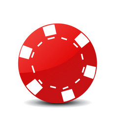 poker chip icon vector image vector image