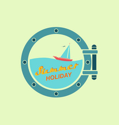 summer holiday on yacht vector image vector image