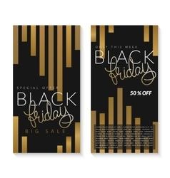 two black friday banners vector image vector image