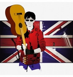 guy with guitar vector image vector image