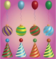 holiday symbols vector image vector image