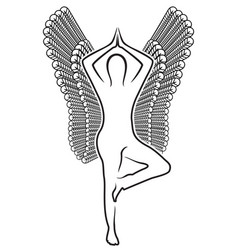 human with wings vector image vector image