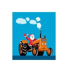 Santa Claus Driving Tractor vector image