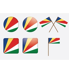 badges with flag of Seychelles vector image vector image