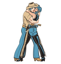 Cowboy and cowgirl vector image