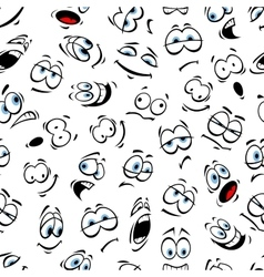 Human cartoon emoticon pattern with blue eyes vector image vector image