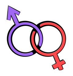 male and female signs icon icon cartoon vector image