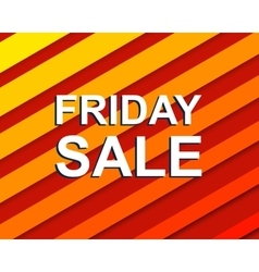 Red striped sale poster with friday sale text vector