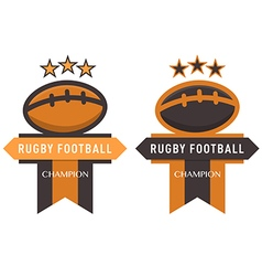 Rugby Football Badge vector image
