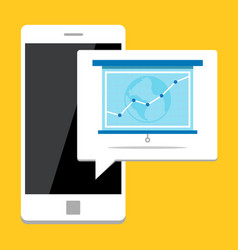 Showing growth on mobile phone vector
