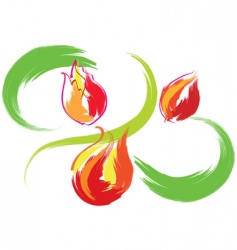 still life with red tulips vector image vector image