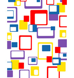 Abstract geometric colorful pattern vector