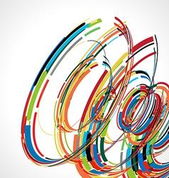 Abstract swirl line futuristic graphic template vector