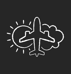 Aeronautical meteorology chalk white icon vector