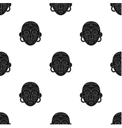 african tribal maskafrican safari single icon in vector image