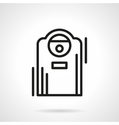 Air ionizer black line icon vector