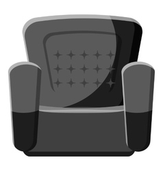 Armchair icon gray monochrome style vector image
