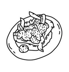 Ayam bakar taliwang icon doodle hand drawn vector