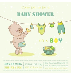 Baby Shower or Arrival Card - with Mommy Bunny vector image