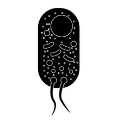 Bacteria the black color icon vector