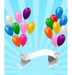 balloons with ribbon vector image