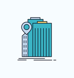 bank banking building federal government flat vector image