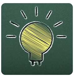 bulbs empty realistic black board in format vector image