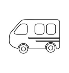 Bus transportation trip design vector