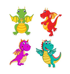 collection of the big dragon and it can fly vector image