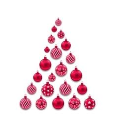 Colorful Christmas Glass Balls vector