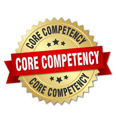 core competency round isolated gold badge vector image