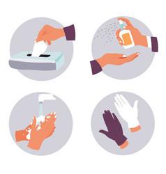 Coronavirus prevention measures and hygiene vector