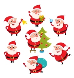 Cute and funny Santa Claus with Christmas vector