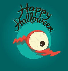 Dead eye Happy Halloween vector