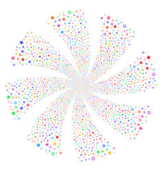 decoration stars fireworks swirl rotation vector image