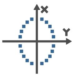 Ellipse Plot Toolbar Icon vector