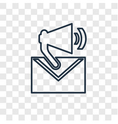 email concept linear icon isolated on transparent vector image