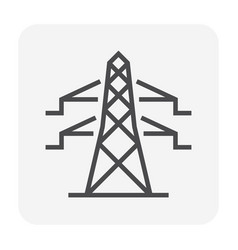 Energy icon black vector