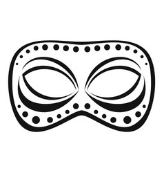 festive night mask icon simple style vector image