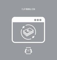 Financial web services - euro vector