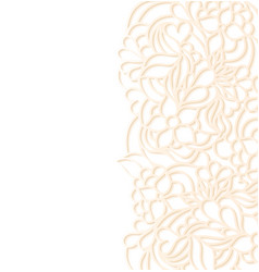 Floral border on white background vector