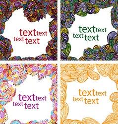 Floral frame for postcards vector image