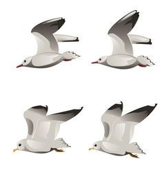 Flying Seagulls vector image