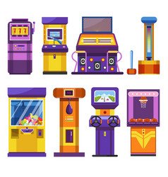 Game or slot machines attraction park devices vector