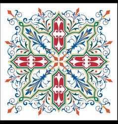 garnished artistic design vector image