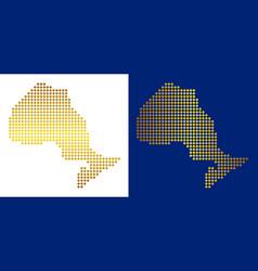 Golden abstract ontario province map vector